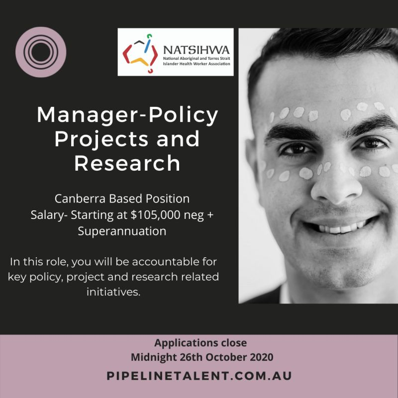 Manager – Policy, Projects and Research