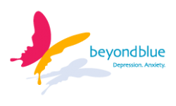 Logo for BEYOND BLUE: THE NATIONAL DEPRESSION INITIATIVE