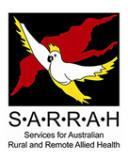 Logo for the Services for Australian Rural and Remote Allied Health