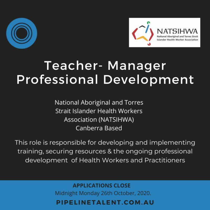 Teacher – Manager, Professional Development